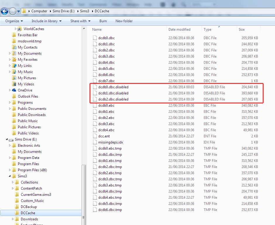Screenshot of DCCache